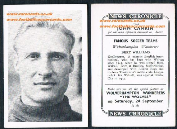 1955 Wolves News Chronicle Williams